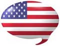 Sprechblase US-Flagge