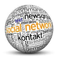 Kugel mit Online-Schlagworten